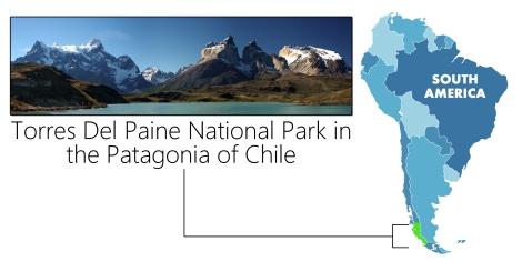Torres Del Paine -- Map