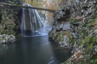 Bigar Cascade Falls in Nera Beusnita Gorges National Park,