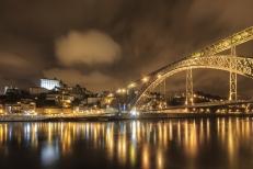 Panoramic night of Porto