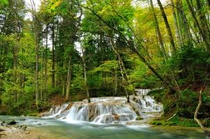 Mountain waterfall Beusnita in Romania
