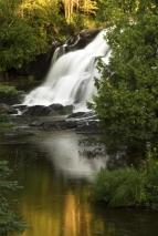 Bond Falls detail with reflection; Ontonagon County, Michigan.