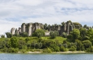 View on Romanian villa Ruins in Sirmione, Italy