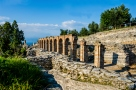 Ruins of Catullus Caves, roman villa in Sirmione, Italy