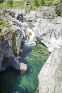 The river Verzasca at Lavertezzo on Verzasca valley