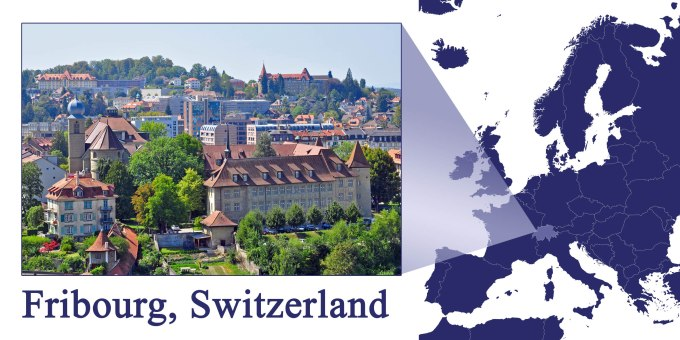 Fribourg -- Map