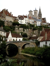 View of Semur-en-Auxois in Bourgogne