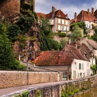 The Medieval Town of Semur en Auxois, France