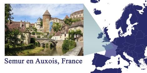 Semur en Auxois -- Map