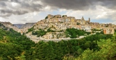 Panoramic view of Ragusa medieval town in Sicily