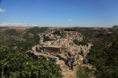 Panoramic view to the Ragusa town in Sicily