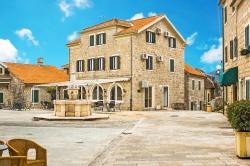 Belavista Square with the medieval fountai, Herceg Novi, Montene