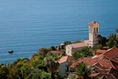 Tower overlooking the sea, Bay of Kotor, Montenegro