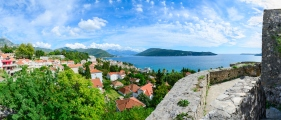 Panoramic view of Herceg Novi and Bay from fortress wall