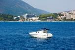 Luxury motor yacht near Herceg Novi, Montenegro.