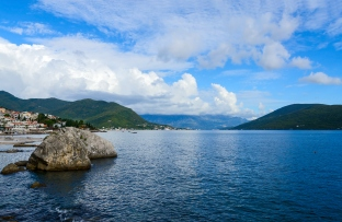 Coastal part of the resort of Herceg Novi, Montenegro