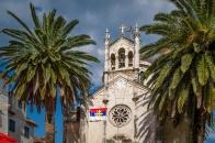 Old Montenegrin church in Herceg Novi town center