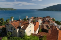 Sea view over the bay in Montenegro