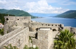 Panoramic of the fortress of old town Herceg Novi and Adriatic sea, Montenegro