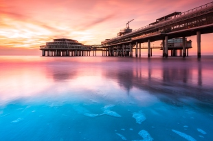 The Scheveningen pier at sunset