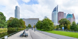 Panoramic view at Den Haag city center