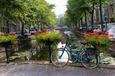 Bike over one of the Hague's waterways