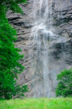 Long Exposure of Waterfall at Lauterbrunnen, Switzerland