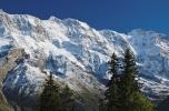Spectacular mountain views between Murren and Allmendhubel (Berner Oberland, Switzerland)